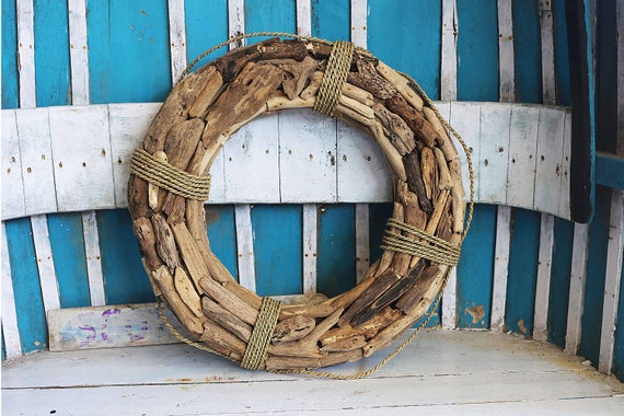 "Coastal, 25"" Driftwood Wreath, Beach Décor by SEASTYLE"