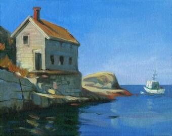 "Original Painting ""Going to sea"" by B. Kravchenko for SEASTYLE Beach Decor"