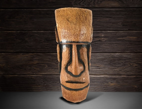 "Tiki Statue 20"" Easter Island Indoor Outdoor Pool Beach Décor by SEASTYLE"