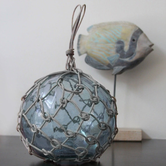 """Vintage Japanese Glass Fishing Floats 9.5"""" Nautical by SEASTYLE"""