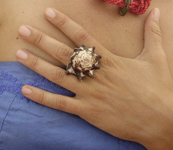 Boho Jewelry Conch Shell Ring by SeaStyle