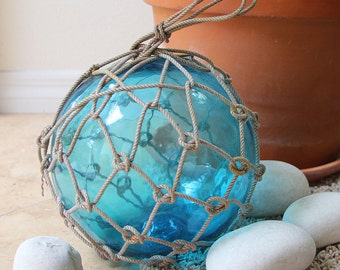 """Sky Blue Big 9-10"""" Vintage Japanese Glass Fishing Float by SEASTYLE"""