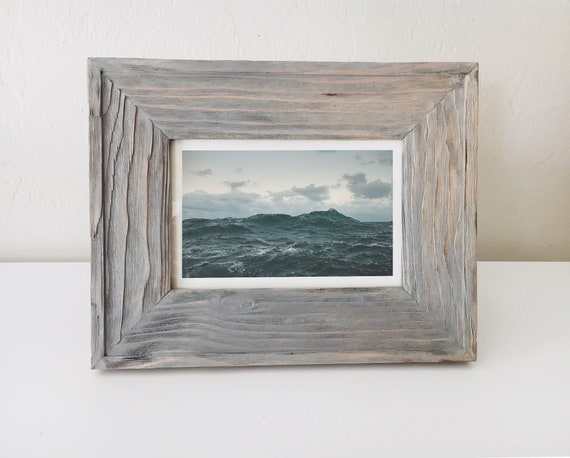Nautical Wood Picture Frame Driftwood Beach Decor by SEASTYLE