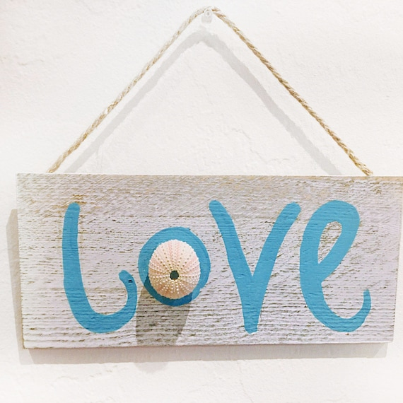 "Driftwood LOVE Sign 12"" Nautical Beach decor by SEASTYLE"