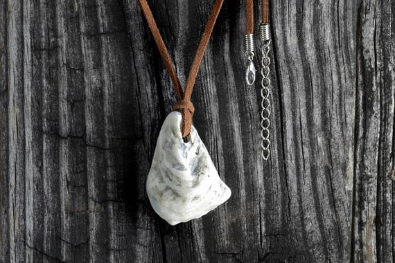 Boho Jewelry Sea Shell Pendant Leather String Necklace Gift by VERO for SeaStyle