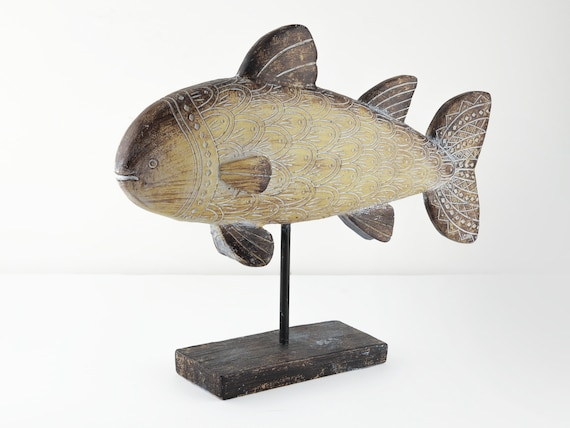 Beach Decor Ceramic Fish On Stand  by SEASTYLE
