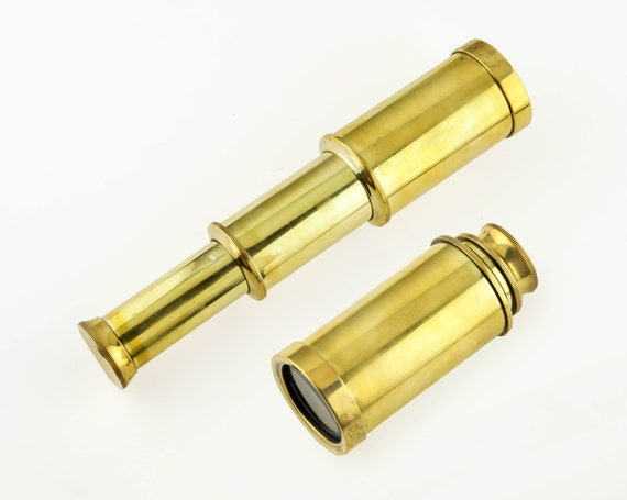 "Brass Telescope 3-6"" Extended Nautical SeaStyle"