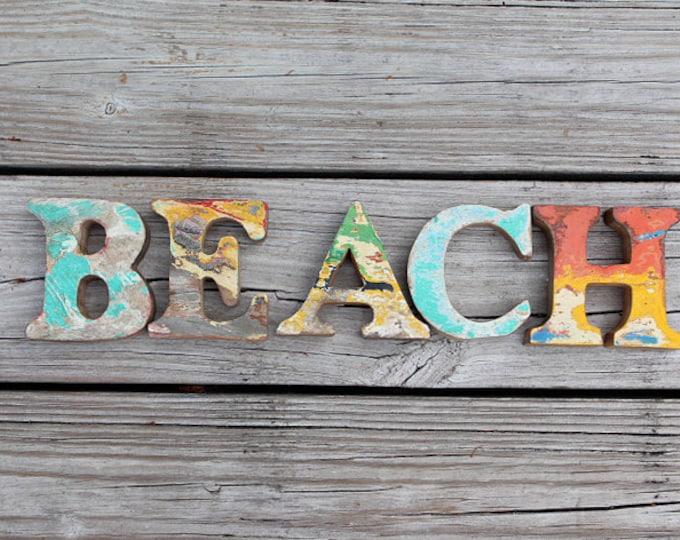 FREE SHIP beach decor vintage Style BEACH nautical wooden
