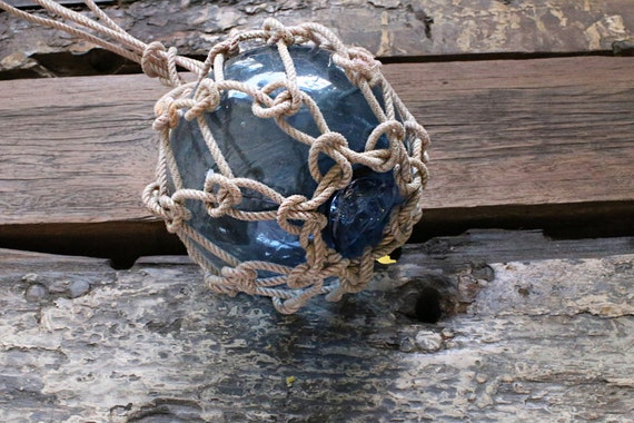 "Japanese Fishing Floats 6"" Nautical, Vintage, Beach Decor, light Blue"
