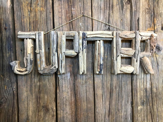 Driftwood Beach Décor JUPITER signs by SEASTYLE