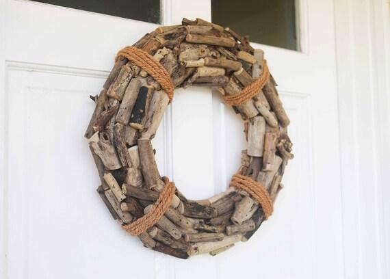 Driftwood Wreath, Beach Décor Nautical by SeaStyle