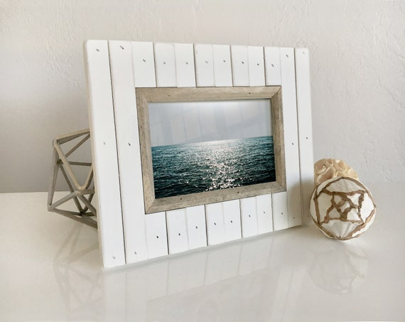Wood Picture Frame Sea Cottage Style Nautical Beach Decor, by SEASTYLE