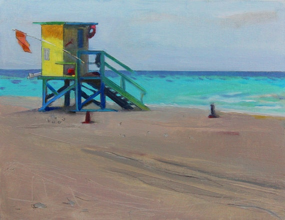 """Sale 20% off Beach Decor """"Ocean color"""" Oil Painting by B. Kravchenko, FREE SHIPPING"""