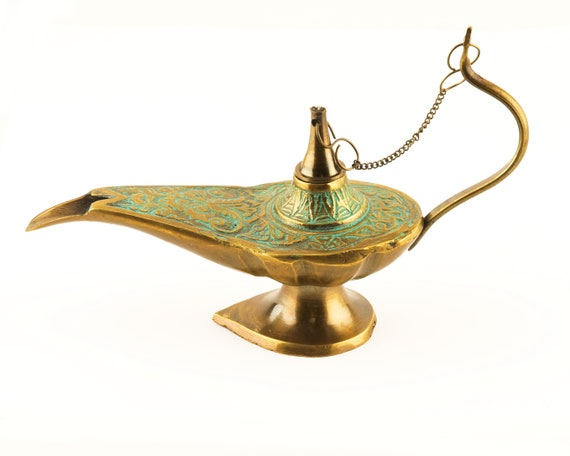 Brass Genie Lamp Aladin Antique SEASTYLE