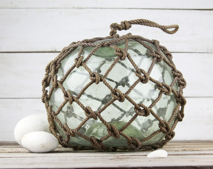 Beach Decor Greenish Big  Onion Fishing Float by SEASTYLE