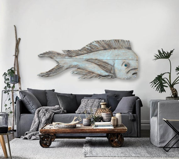 Driftwood 38 in Dolphinfish 2d Beach Décor by SEASTYLE