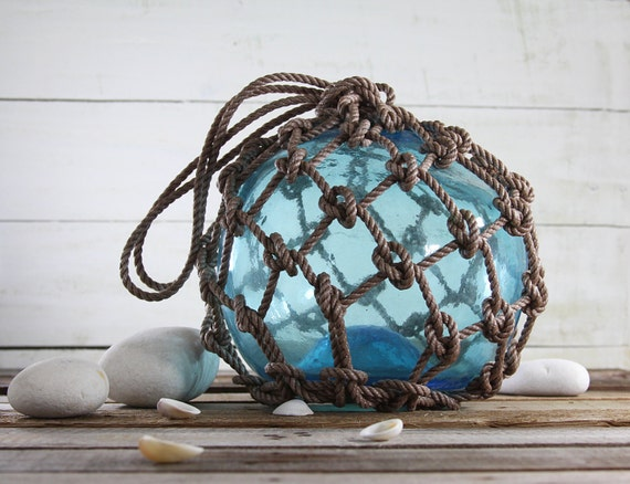 Beach Decor Light Blue Big Fishing Float by SEASTYLE