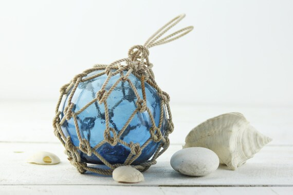 """Beach Decor, Light Blue Fishing Float, 6"""", Vintage, Style by SEASTYLE"""