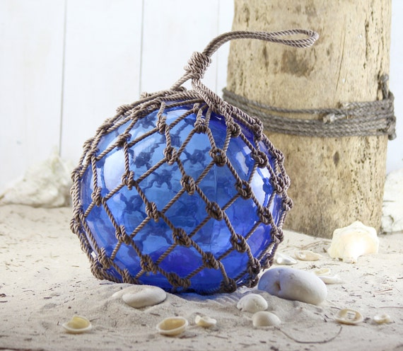 Beach Decor Cobalt Blue  Super Big Fishing Float by SEASTYLE