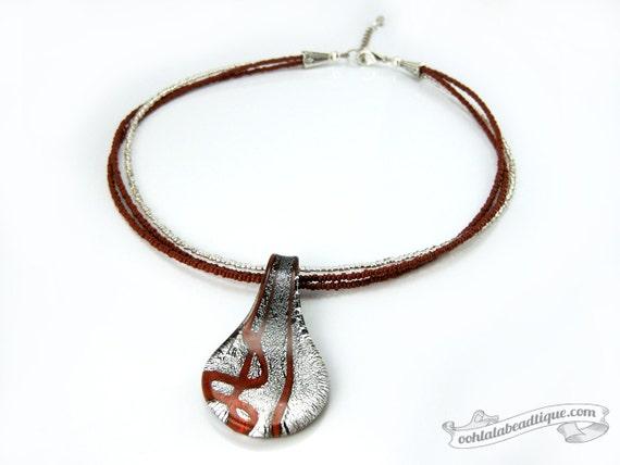 """5 18 /""""de la cola del tigre tono plata alambre Gargantillas Collares"""