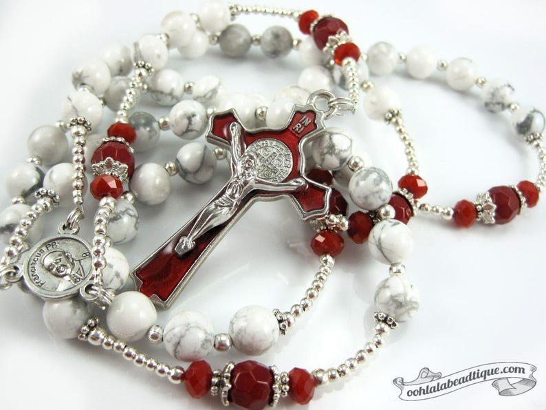 Pope Francis rosary white rosaries confirmation rosary image 0