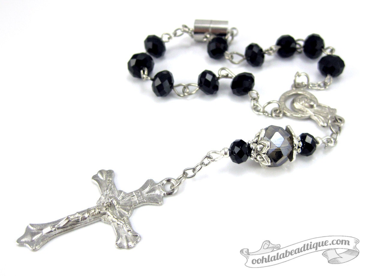 Pray the Rosary Auto Magnet 7 Inch