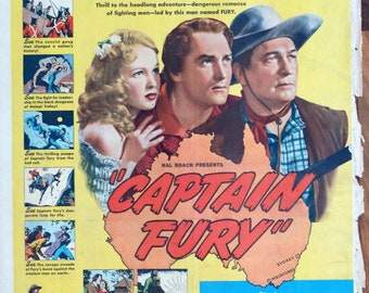 Captain Fury.1939 15.5x21 US RARE NewspaperMovie Advertisement.Brian Aherne,Victor McLaglan,John Carradine,Paul Lukas,June Lang,George Zucco