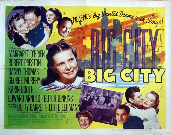 Big City. 1948 Original 22x28 US Theater Movie | Etsy