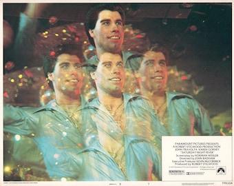 "Saturday Night Fever. 1977 11"" x 14"" US Lobby Card #7 Movie Poster. Best Image of John Travolta, Karen Lynn Gorney, Barry Miller,Joseph Cali"