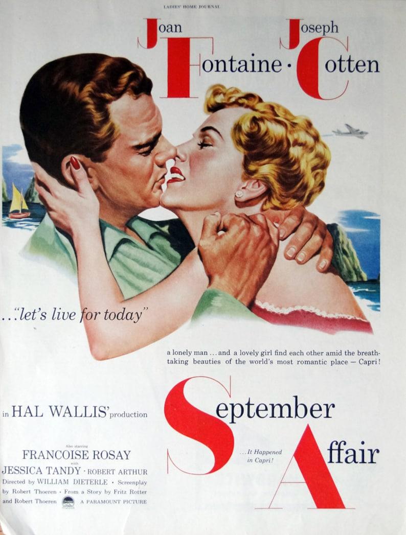 James Lydon September Affair 1951 Magazine Movie Advertisement Jessica Tandy Joan Fontaine Henry Aldrich movie series Joseph Cotton