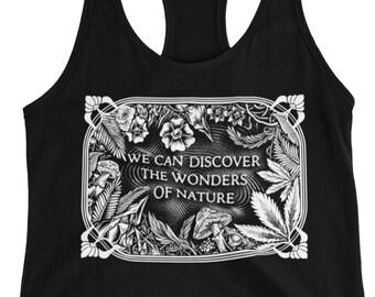Womens Tank Top - Wonders of Nature - Ladies Racerback Tank Top - Sugar magnolia shakedown street lot shirt