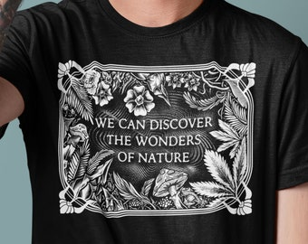 Wonders Of Nature T Shirt-Sugar Magnolia Tribute shirt-Mother earth -Mongo Arts T shirt- psychedelic clothing-Nature-Plant medicine-Cannabis