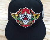 One left... 7 1/8 size Wings Spread Bright Fitted Hats + grateful Dead hats + mongo arts lids