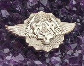 """3D pin High Polished Shiny Nickel """"Wings Spread Bright"""" Grateful Dead inspired hat pin LE 100"""