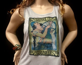 Tank Top- Sugaree- Ladies Racerback Tank Top/Womens Next Level brand