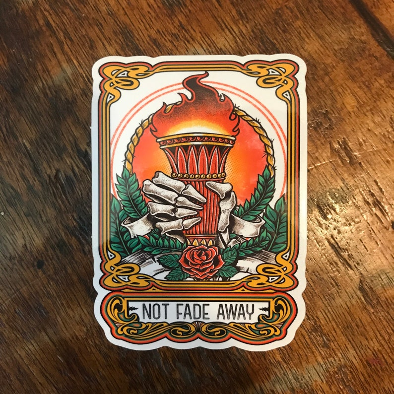New Not Fade Away Torch Stickers L.E. of 100   Free Shipping image 0
