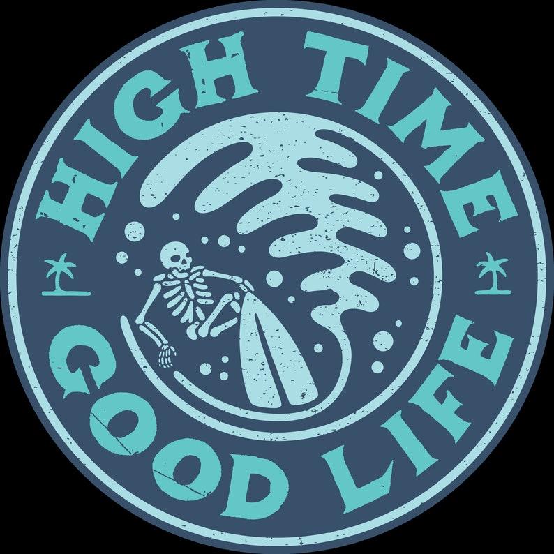 High Time Mens T shirt-Mongo Arts-Mens hippie shirt-Long image 0