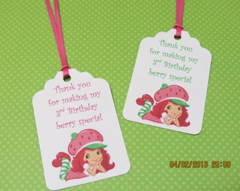 Starwberry Shortcake Favor Tags