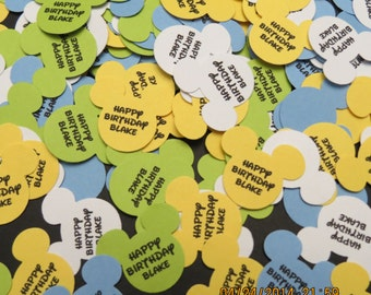 Baby Mickey Personalized Confetti/Embellishment/Die Cuts