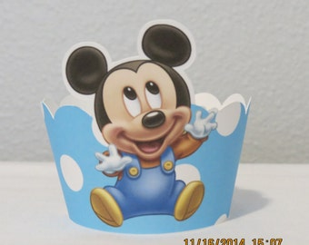 Baby Mickey Cupcake Wrappers (Set of 12)