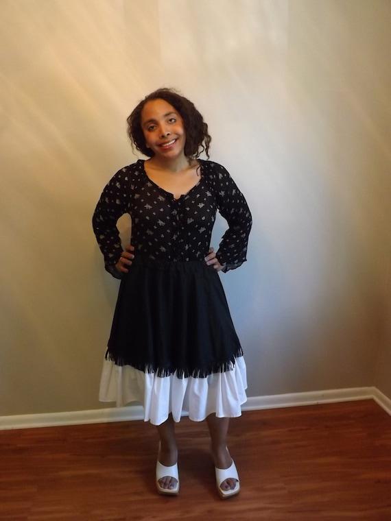 Handmade Fringy Rockabilly Skirt/Vintage Rockabill