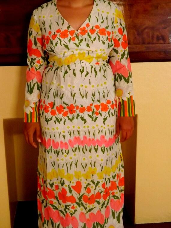 Vintage Maxi Dress/Party Dress/Dinner Party/Hostes