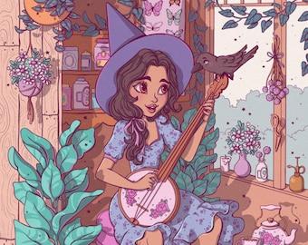 Banjo Practice Fine Art Print