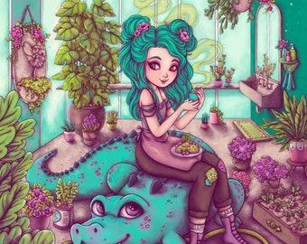 Crocodile Magic Fine Art Print