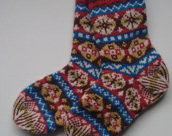 Traditional Fair- Isle Sock Pattern