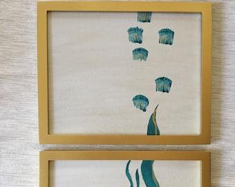 Sea Life Acrylic Paintings - Set of 2