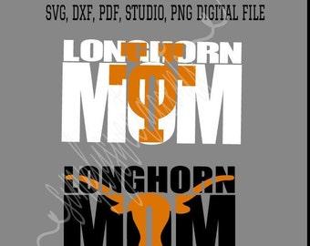 UT Longhorn Knockout SVG JPEG Design University of Texas Bevo File