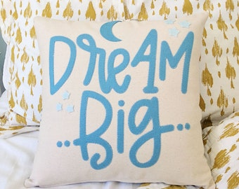 Custom Pillow Cover Personalized Applique Pillow Typography Pillow Case Gift for Her Custom Pillow Saying Large Letter Pillow 16x16 Pillow