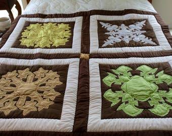 Vintage hawaiian quilt etsy