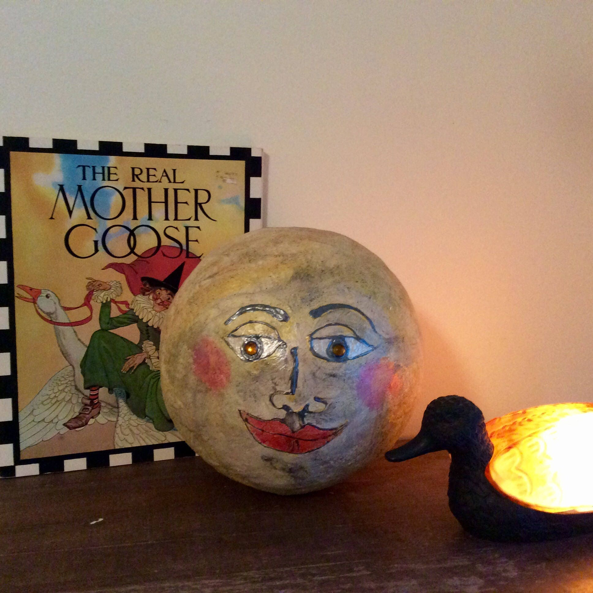 Repurposed Home Decor: Moon Repurposed Home Decor Man In The Moon Sphere